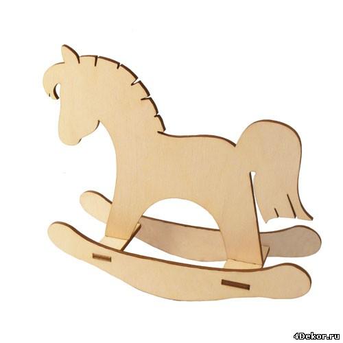 Детская лошадка качалка чертежи вектор