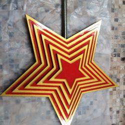 Звезда из акрила и пластика